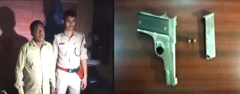 One Apprehended with 7.65 mm pistol in Nalbari