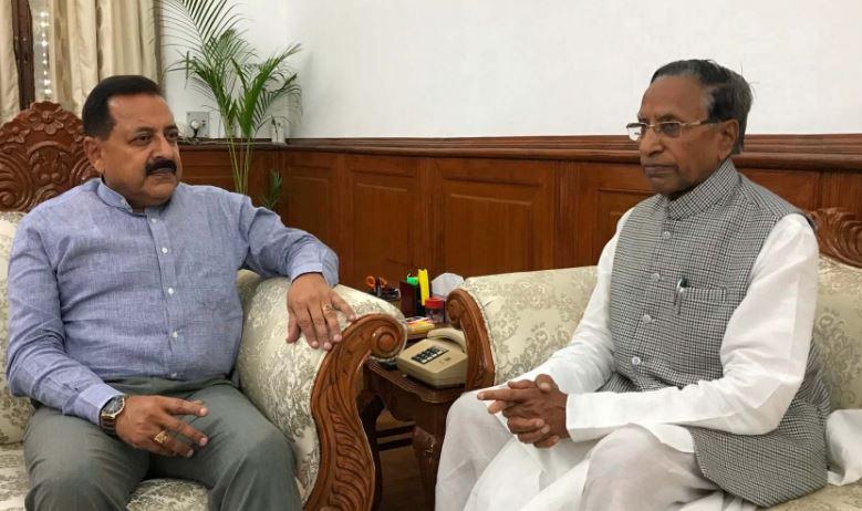 Sikkim Governor Ganga Prasad Calls On Union DoNER Minister Jitendra Singh