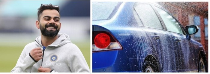 Virat Kohli In Trouble For Washing His Cars With Drinking