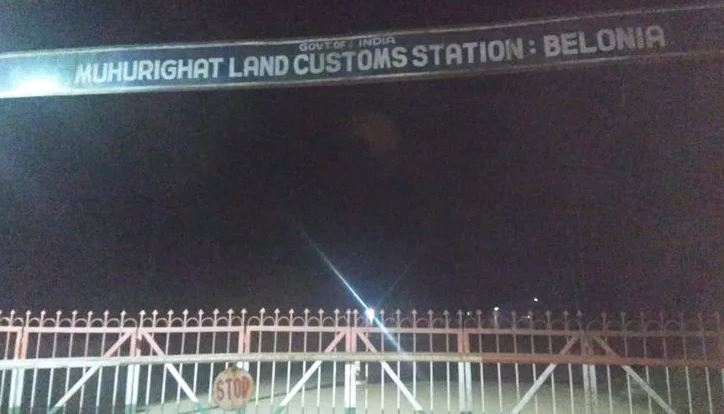 Tripura Check Post Work Halted Due To Bangla Objection
