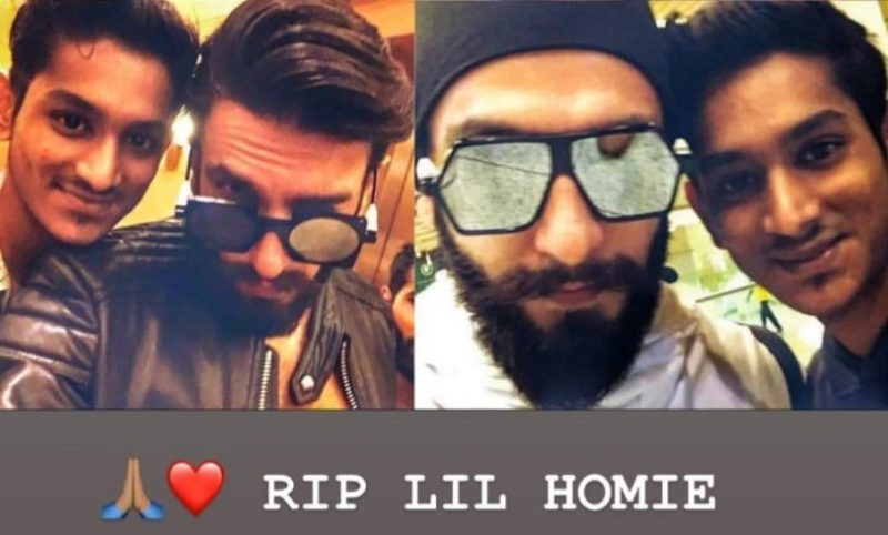 """Rip Lil Homie"": Ranveer Singh Pays Tribute To Young Fan After His Sudden Death"