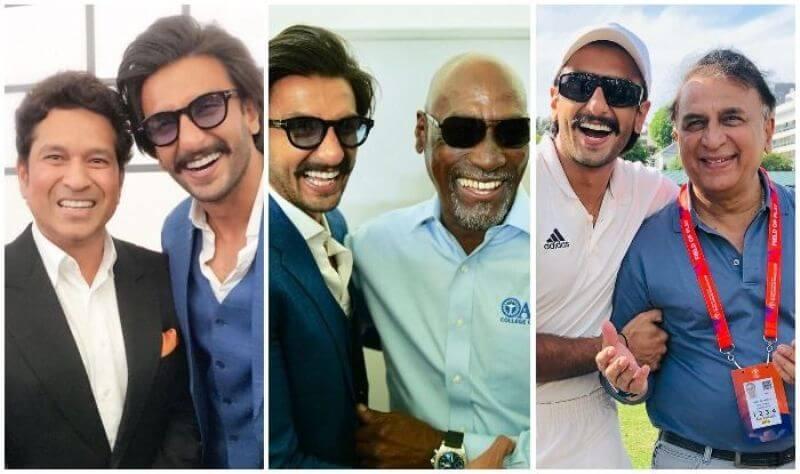 Ranveer Singh Shares Pictures With Legends of Cricket Sachin Tendulkar, Sunil Gavaskar And Shane Warne
