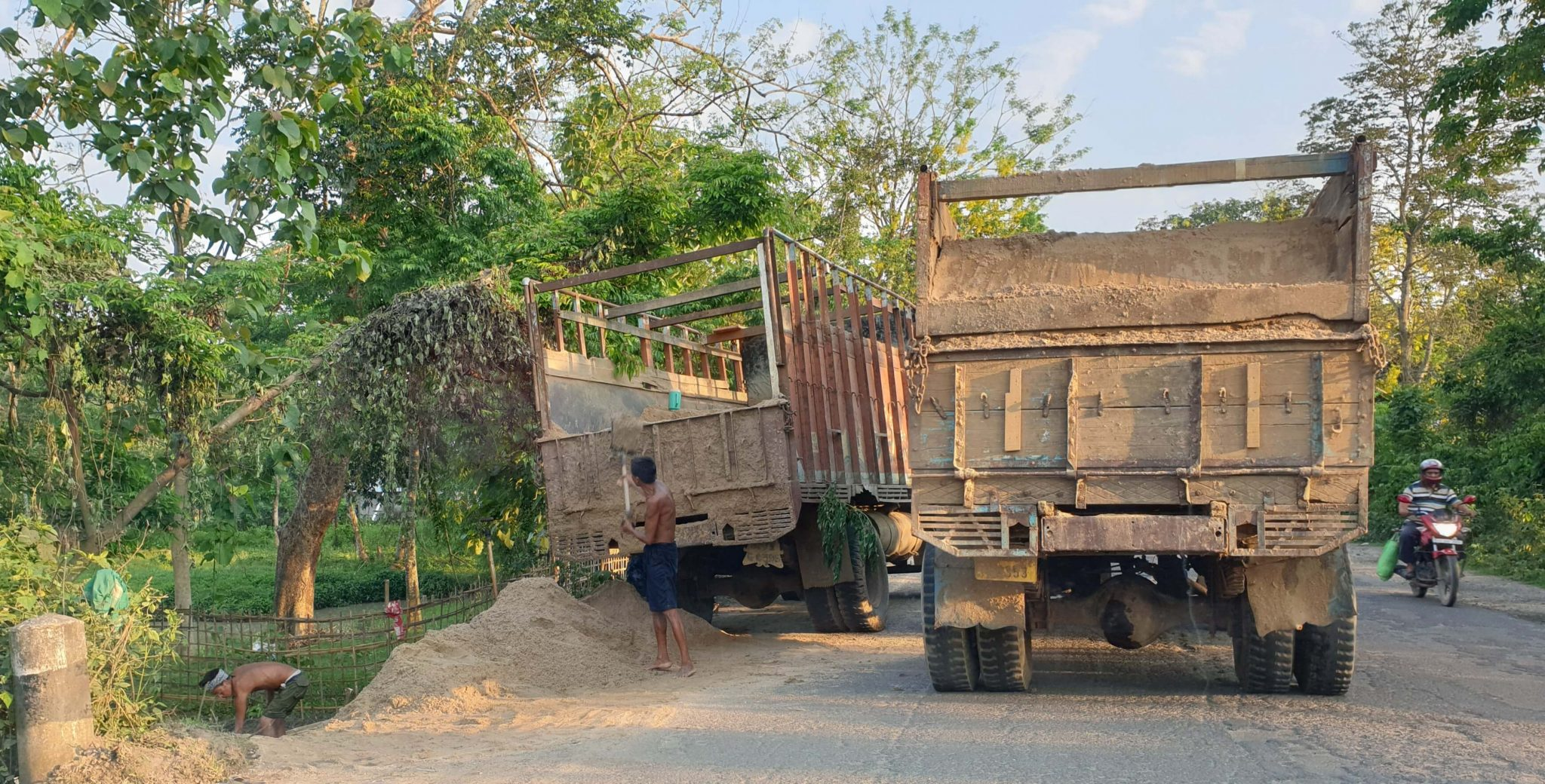 Sand mining goes unregulated in Karbi Anglong with uncontrolled mining from river beds and agricultural lands