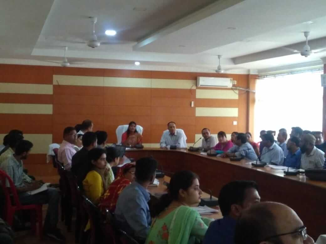 DC Keerthi Jalli Urges Functionaries To Tone up Health Services in Hailakandi District