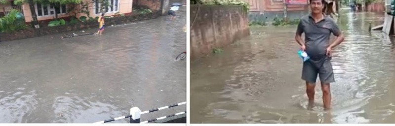 Guwahati under Flash flood woes, city roads waterlogged