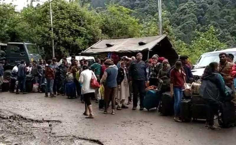 At least 427 tourists stranded in North Sikkim for torrential rain evacuated at last
