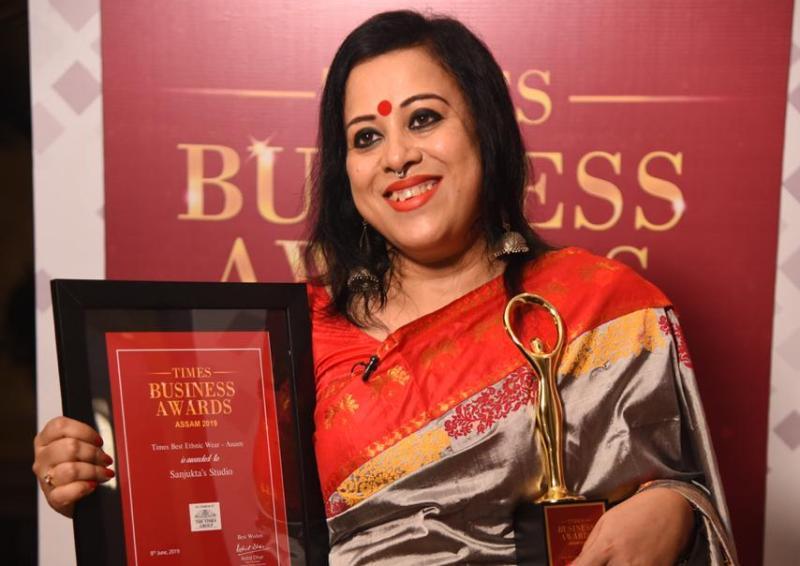 Sanjukta Dutta Wins Times Best Ethnic Wear Assam Award