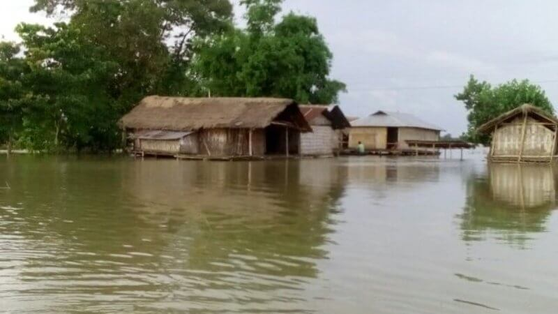 Flood recedes