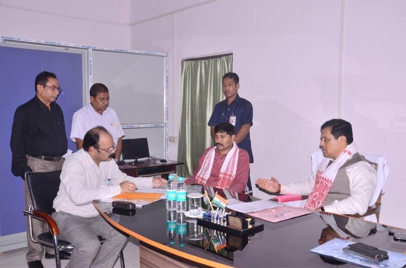 Chief Minister Sarbananda Sonowal visits flood affected areas of Nalbari and Barpeta