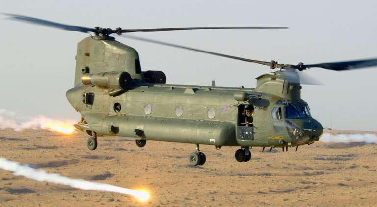 Two new heavy-lift Chinook helicopters for Indian Air Force arrived in Gujarat