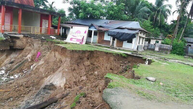 Erosion At Ranikor C&RD Block Damages Schools Property