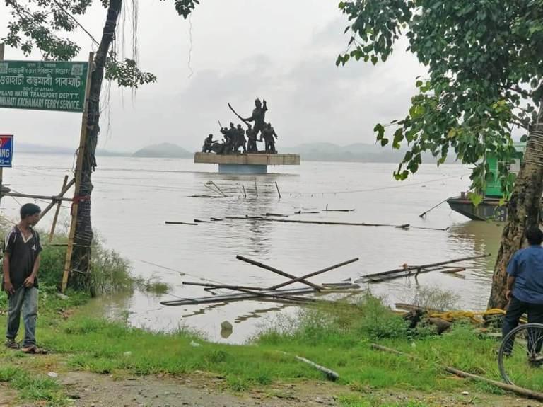 Water Logging in Guwahati: Fancy and Uzan Bazaar Under Water after Rise in Water Level