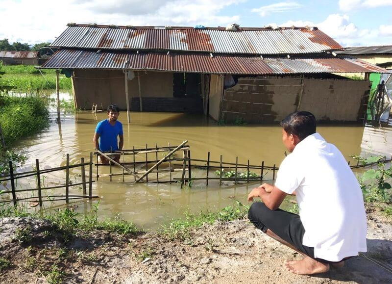 First wave of flash flood hits 28 revenue villages in Lakhimpur