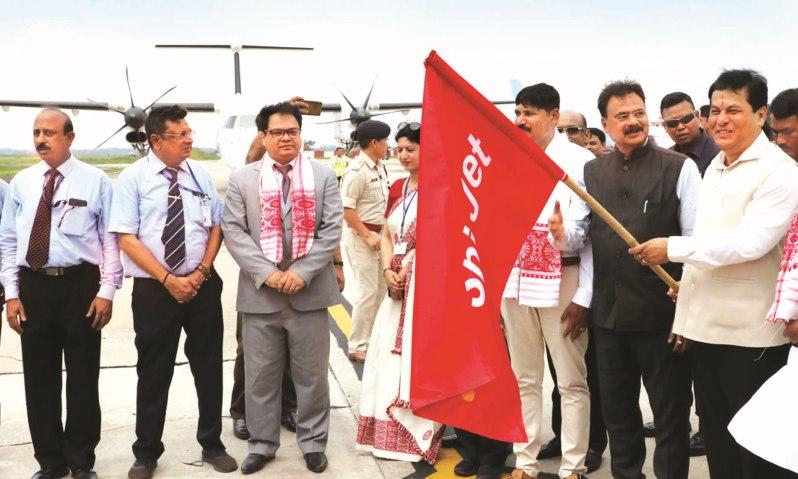 Chief Minister Sarbananda Sonowal Flags off Maiden Guwahati-Dhaka Flight