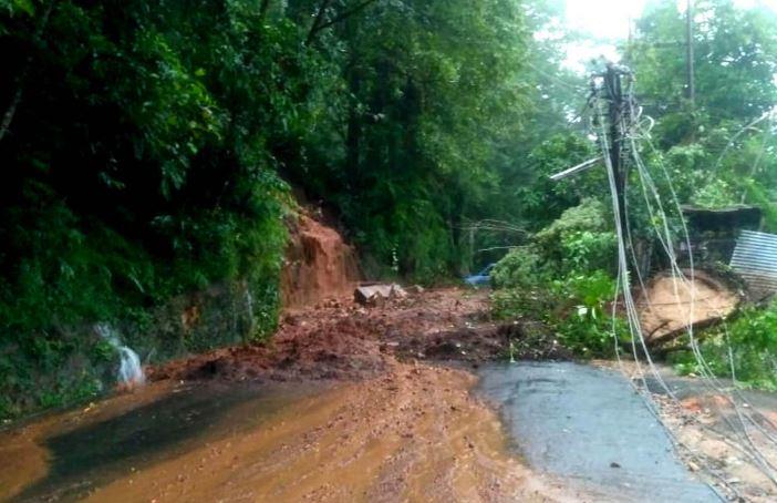 Rains Cause Landslips in East Khasi Hills District, Shillong