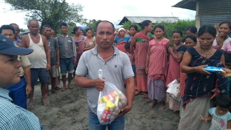 Relief items distributed among flood-affected people by Assam Branch Indian Tea Association