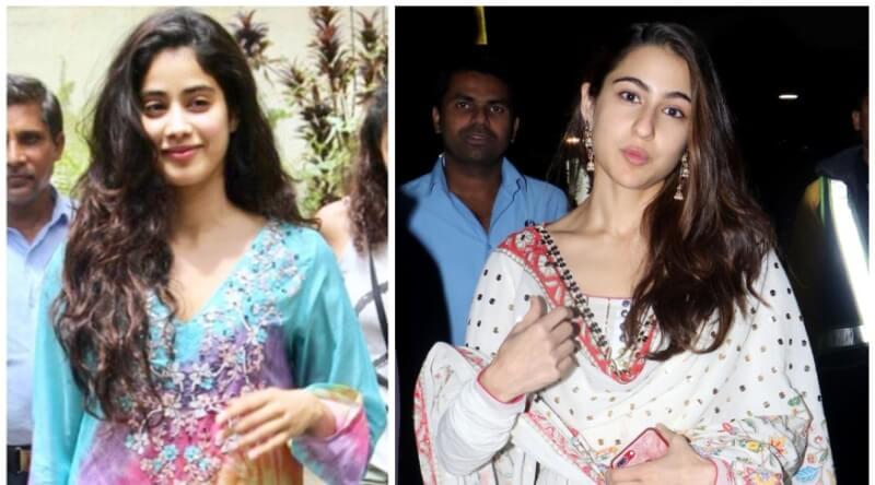 Sara Ali Khan, Janhvi Kapoor Get Eyes Rolling With Their Salwar kameez Look - Pics Inside