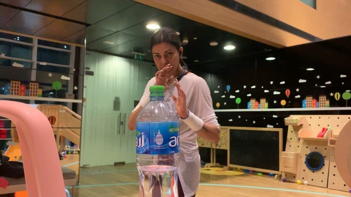Sushmita Sen, Sherlyn Chopra Ace Bottle Cap Challenge