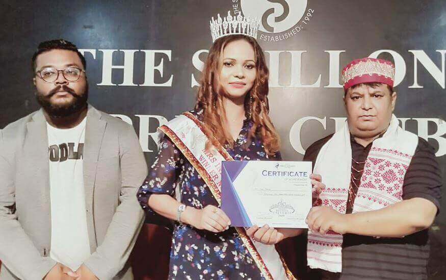 Tina Momin Felicitated for Shining in Divalicious Mrs Universe 2019 in Shillong