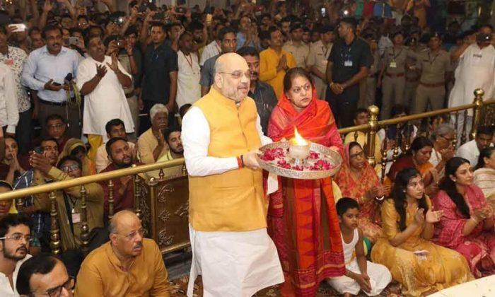 Amit Shah Performs Aarti At Jagannath Temple, kickstarts Rath Yatra