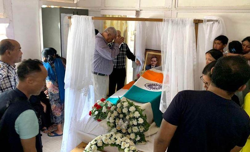 Mortal Remains of Dr. Donkupar Roy Brought to Shillong