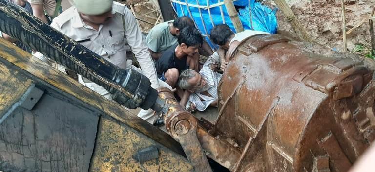 60 year old man severely injured in landslide rescued by Jorabat Police