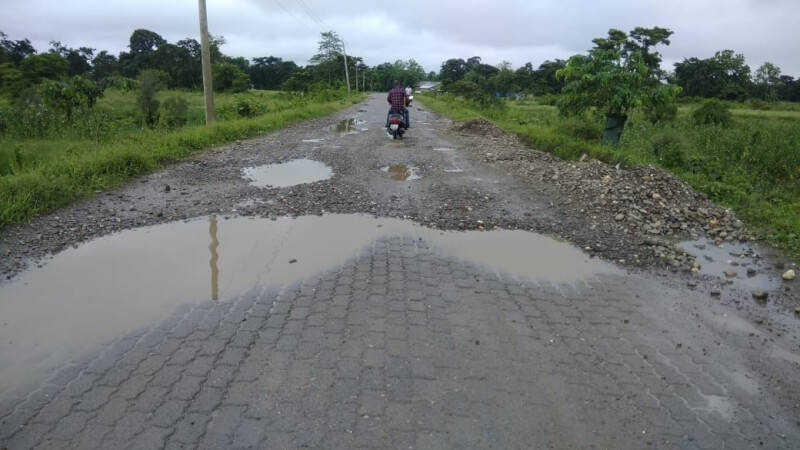 Poor road construction under Public Works Department (PWD) irks people in Morigaon