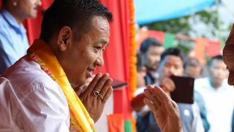 A Day After Reduction In Disqualification Period, Sikkim CM P.S. Golay Files Nomination