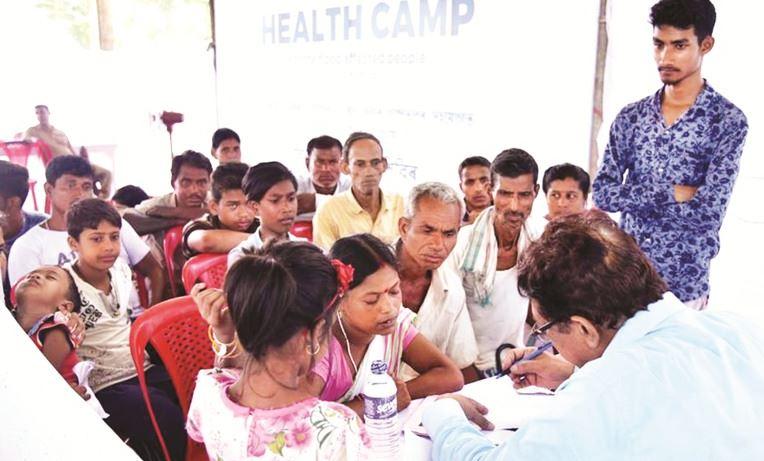 Assam Floods: Health Camp Organized by Srijanasom Trust in Kamrup District