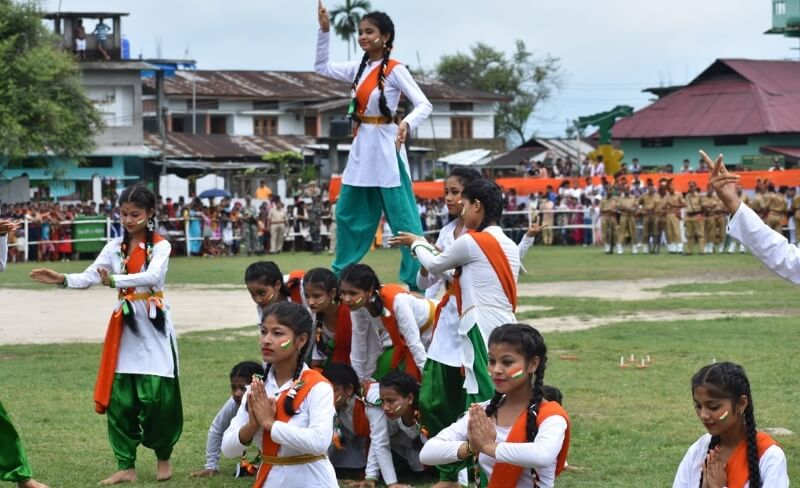 Lakhimpur joins nation in 73rd Independence Day celebration with full enthusiasms