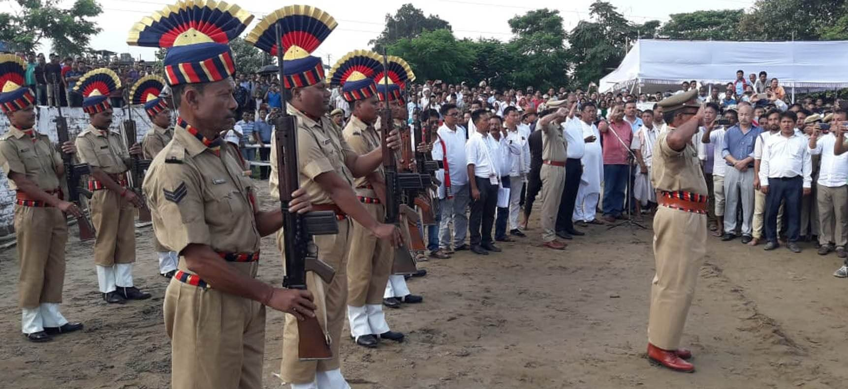 Tabu Taid cremated with State honour at Gogamukh in Dhemaji district
