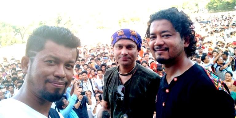 Singing sensation Zubeen Garg and Team visits Dhemaji for Kanchanjangha Promotion