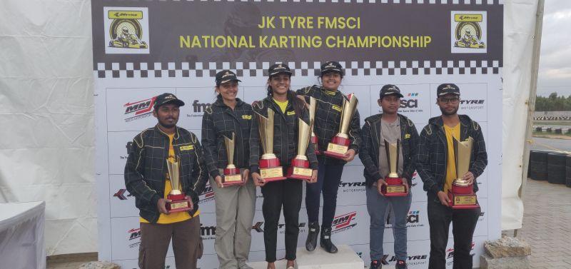 Faridabads Muskan Jubbal Wins Karting Slalom Title