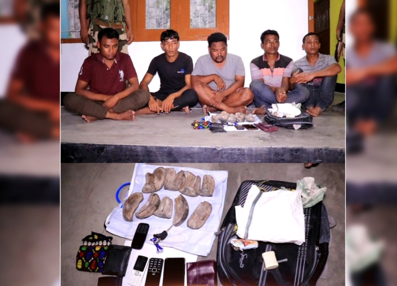 Five Most Wanted Rhino Poachers apprehended in Biswanath