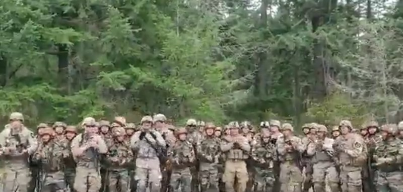 Indian Counterparts and American Soldiers Troops Shake a Leg Together