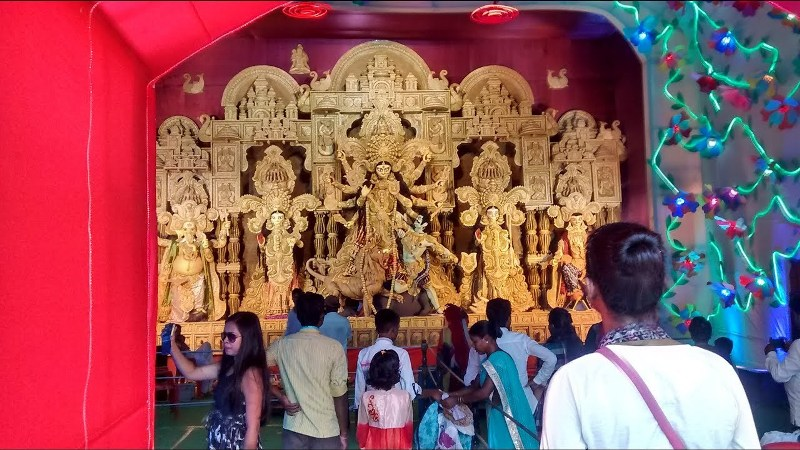 Puja Pandal Blocking Road In Tinsukia, Social Worker Seeks Action