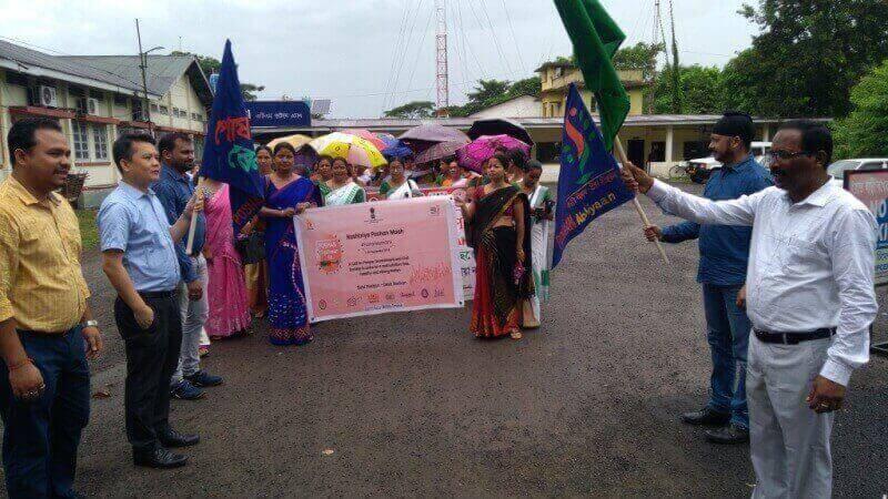 Tinsukia MLA Sanjay Kishan Flagged off Poshan Abhiyaan Rally