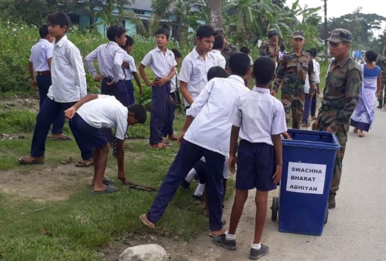 Army Launches 'Swachh Bharat' Campaign at Nalbari Vidya Mandir High School