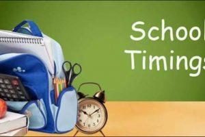 School Timings
