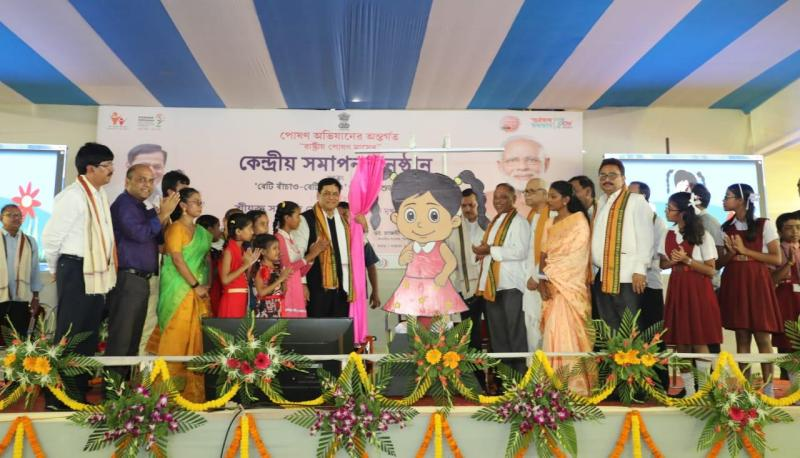 Sarbananda Sonowal unveils mascot 'Misti' to spread message of healthy baby