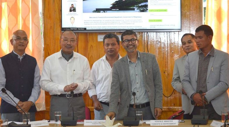 Minister Lahkmen Rymbui Launched Revamped Website of Forest & Environment