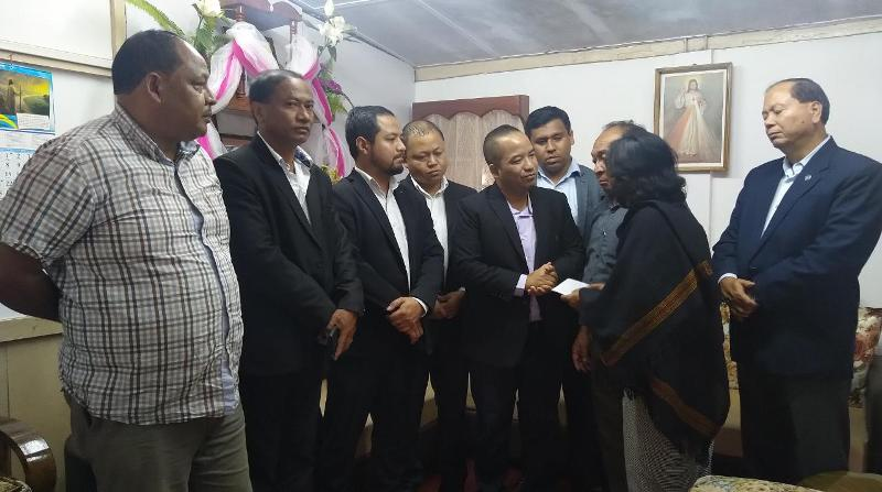 People's Democratic Party (PDF) Leaders Meet Family members of Late Archbishop