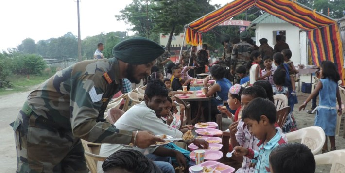 Kokrajhar Army Observes Gudur Day with community feast in Patharghat