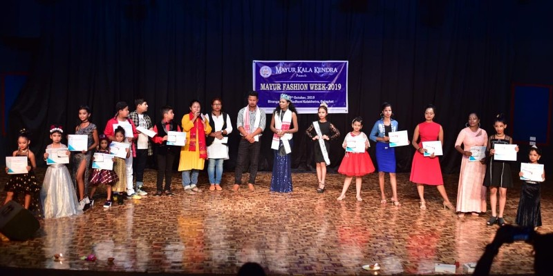Fashion show held By Mayur Kala Kendra of Golaghat