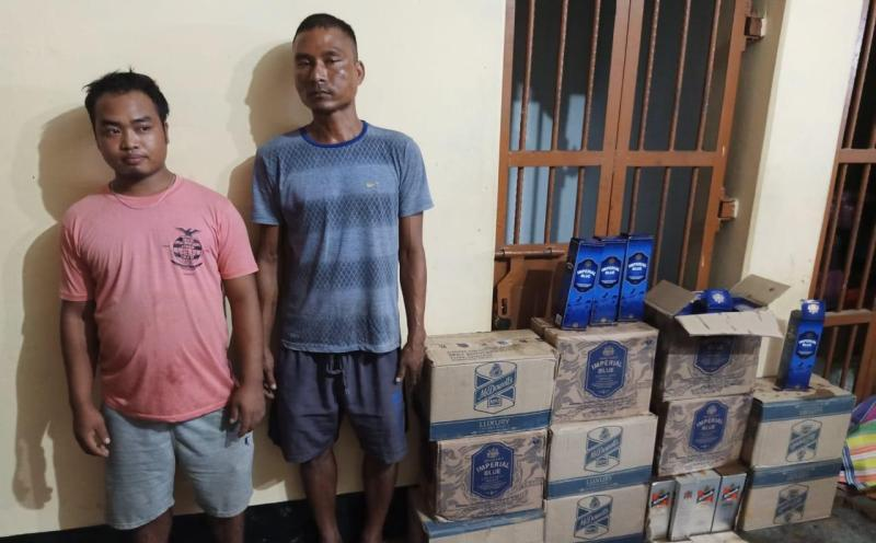 Police Seized Foreign liquor in Naka Check at Hailakandi