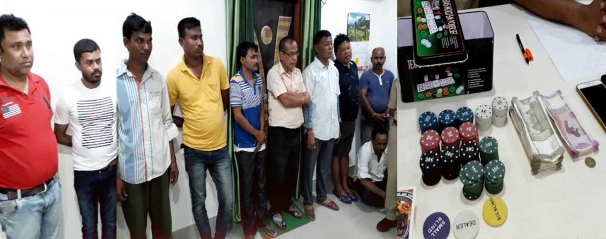 Gambling Den busted in Biswanath, 10 arrested, three cars seized