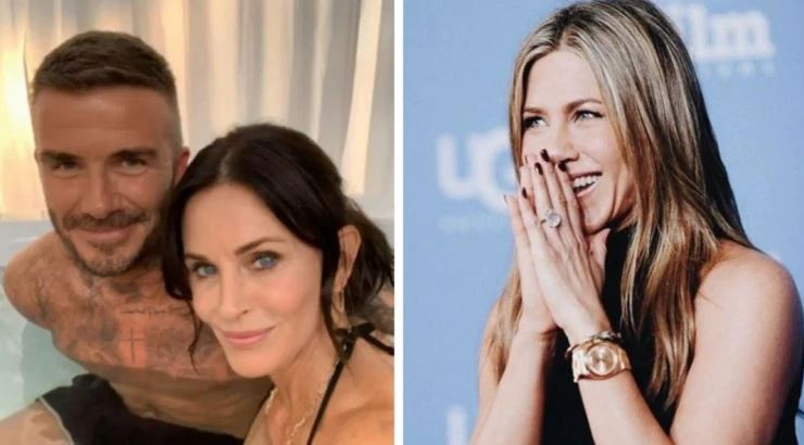 Courtney Cox's Pictures in Hot Tub with Beckham confuses Jennifer Aniston