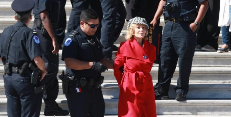 Jane Fonda Arrested During Climate Change Protest