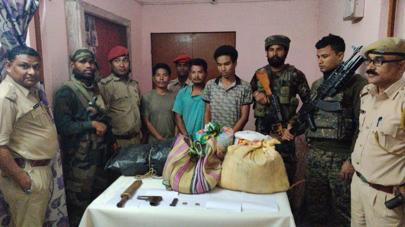 New NDFB (S) recruits held, arms recovered in Ripu Reserve Forest (RF)