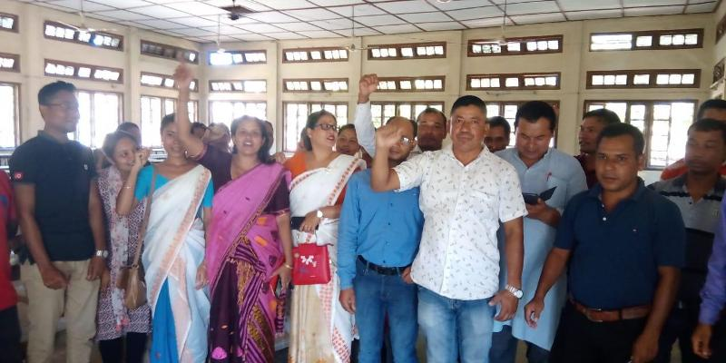 TET Centre Demanded in Dhakuakhana, Protest Meeting held in Lakhimpur